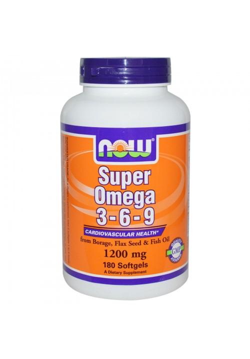 Now Foods Omega 3-6-9 1200mg (180 lágyzselatin kapszula)