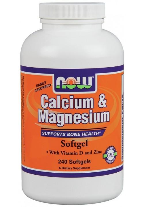 Now Foods Calcium & Magnesium + D vitamin (240 lágyzselatin kapszula)