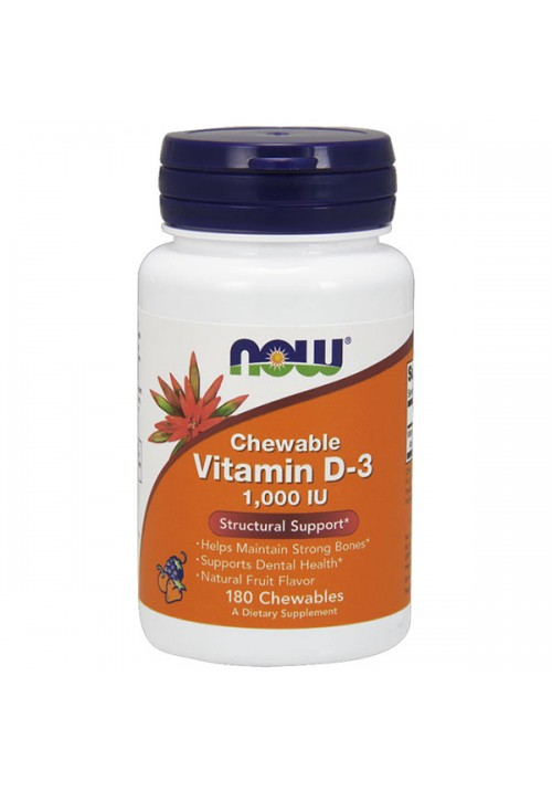 Now Foods D-3 Vitamin 1000 IU (180 Rágótabletta)
