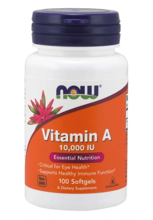 Now Foods Vitamin A 10,000 IU (60 lágyzselatin kapszula)