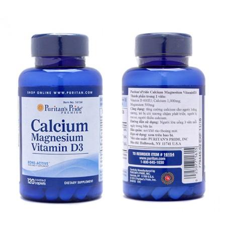 Puritan's Pride Calcium Magnesium + D Vitamin (60 - 120 Kapszula)