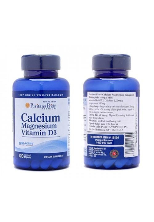 Puritan's Pride Calcium Magnesium + D Vitamin (120 Kapszula)