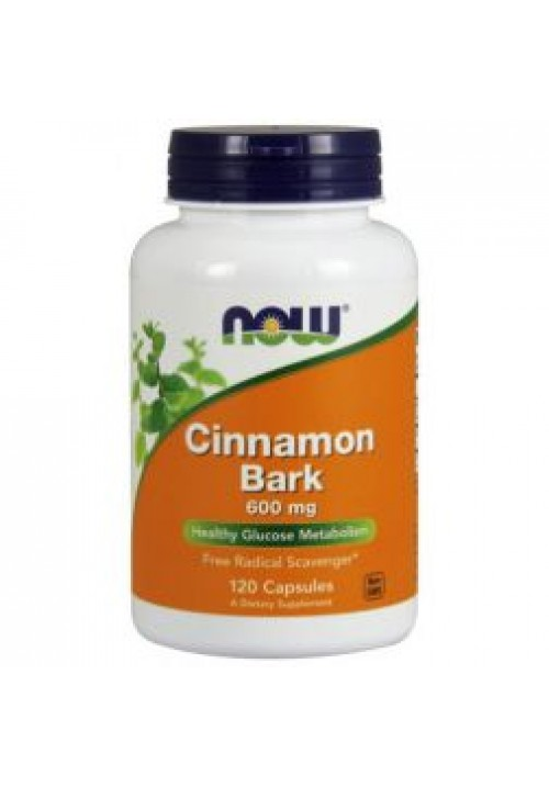 Now Foods Cinnamon Bark 600mg (120 kapszula)