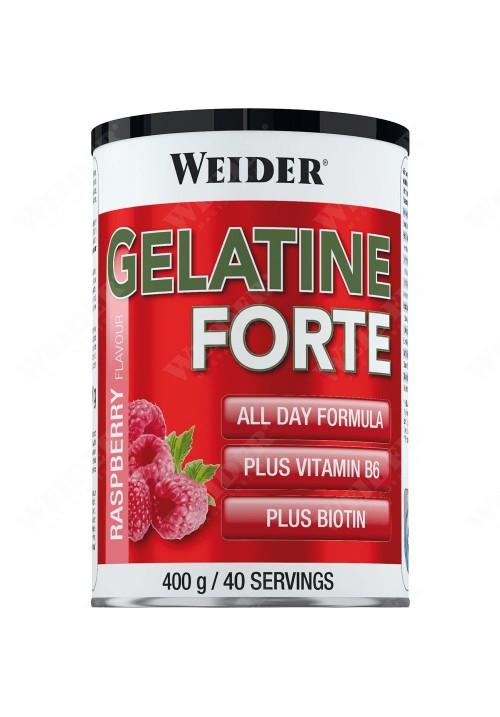 Weider BodyShaper Gelatine Forte izületvédő, bőrfeszesítő, haj- és körömerősítő (málna íz)  400g
